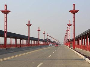 中国最长廊桥日照莒县莒安大桥氟碳漆防腐工程
